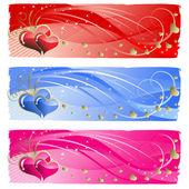 любовь баннеры — Cтоковый вектор