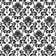 Black and white leaves — Imagen vectorial