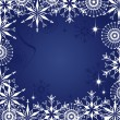 Stock Vector: Christmas dark blue background