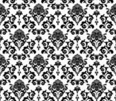 Black and white leaves — Vector de stock