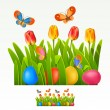 Easter border — Stock Vector