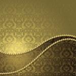 kahverengi ve altın arka plan — Stok Vektör