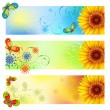 Royalty-Free Stock Vector Image: Summer banners