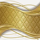Fondo blanco y oro — Vector de stock
