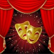 Stock Vector: Theatrical masks