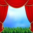 Theater curtains — Stock Vector #5330928