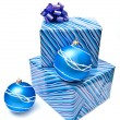 Christmas balls and presents — Foto de Stock