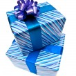 Two gifts boxes with bow — Stok fotoğraf