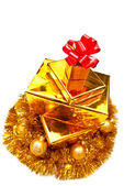 Presents in christmas decor — Foto Stock