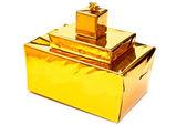 Yellow presents boxes — Foto de Stock