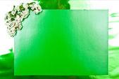 Green greeting card — Stock Photo