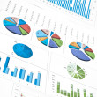 Charts and diagrams - Stock Photo