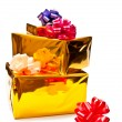 Yellow presents boxes - Foto de Stock  