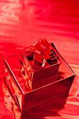 Gift box and christmas decor — Stock Photo