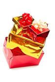 Gele en rode presenteert — Stockfoto