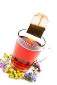 Té y flores — Foto de Stock