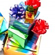 Giftboxes in a pile — Stock Photo