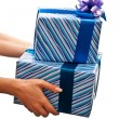Royalty-Free Stock Photo: Presents in womans hands