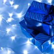 Gifts boxes and garland — Stock Photo