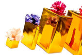 Row from presents — Stock Photo