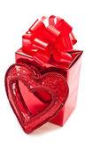 Kırmızı noel hediyesi — Stok fotoğraf