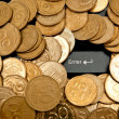 Stock Photo: Coins and keyboard