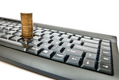 Money for internet — Stockfoto
