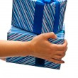 Gifts boxes on hands — Stock Photo