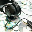 Headphones on cds — Stock Photo #4191265