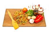 Spaghetti con verduras — Foto de Stock