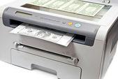 Printer and money — Stock Photo