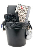 Full trash of used hardware — Stock Photo
