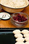 Small cherry pies — Stock Photo