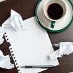 penna, kaffe, papper — Stockfoto