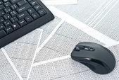 键盘和鼠标 — 图库照片