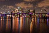 Miami at night — Stock Photo