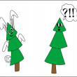 Tree in a mask of a rabbit — Stock Vector