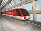 Monorail train — Stock Photo