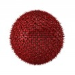 3d render of red abstract ball on white — Stock Photo #5219163