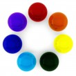 3d render of rainbow colored balls — Stock Photo #5219202