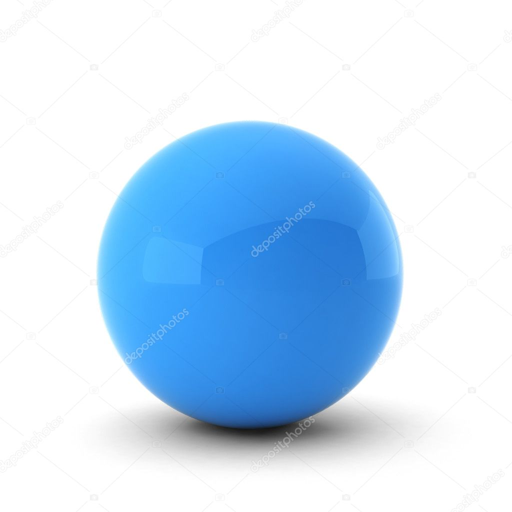 3d render of  blue ball on white — Stock Photo #5219134