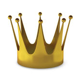 3d render of gold crown — Stock Photo