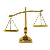 3d визуализация золотые весы — Стоковое фото