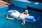 Old man having fun. — Stock Photo