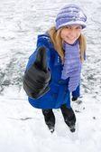 Sneeuw meisje. — Stockfoto