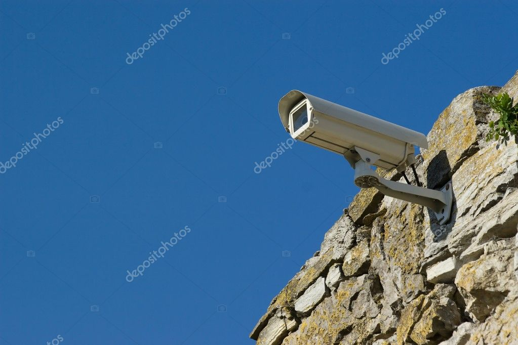 Security video camera above the sky. — Stock Photo #4054955
