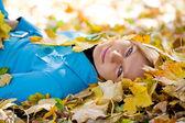 Autumn girl. — Stock Photo