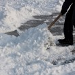 Shoveling snow. — Stock Photo