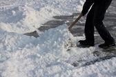 Shoveling snow. — Stock Photo