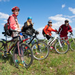 A group of four adults on bicycles in the countryside. — Stock Photo #4784505